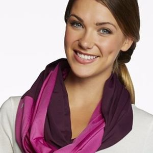 Fabletics Women's Purple Infinity Circle Scarf NWT